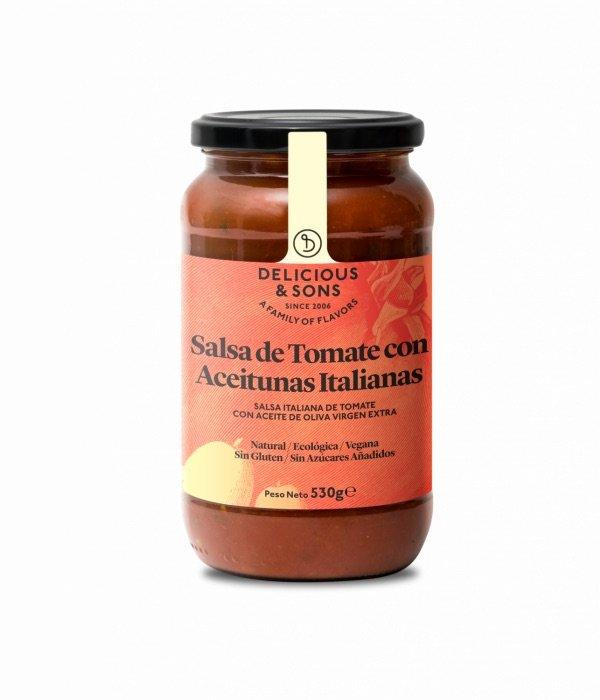 611 Salsa de tomaquet amb olives italianes 530gr Delicious Sons