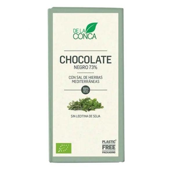 Xocolata Negra 73 amb Sal de dherbes Mediterraneas