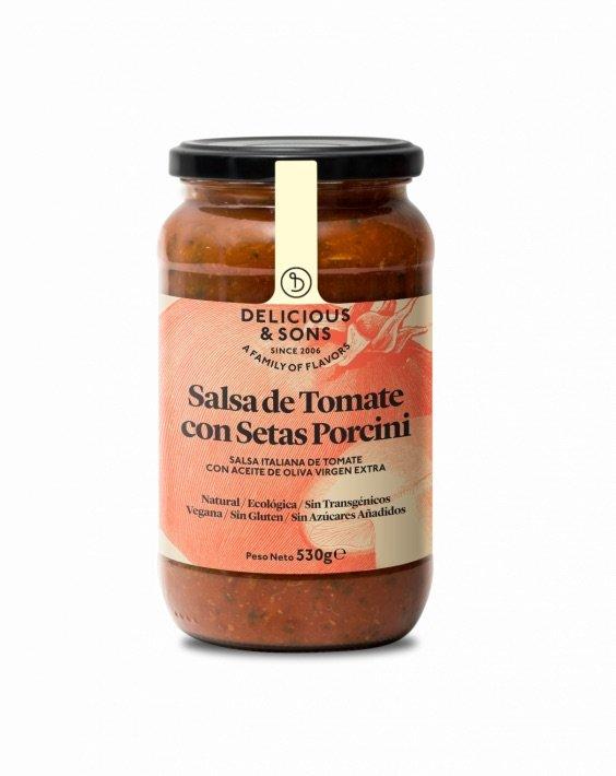 682 Salsa de Tomaquet amb Bolets Porcini 530gr Delicious Sons
