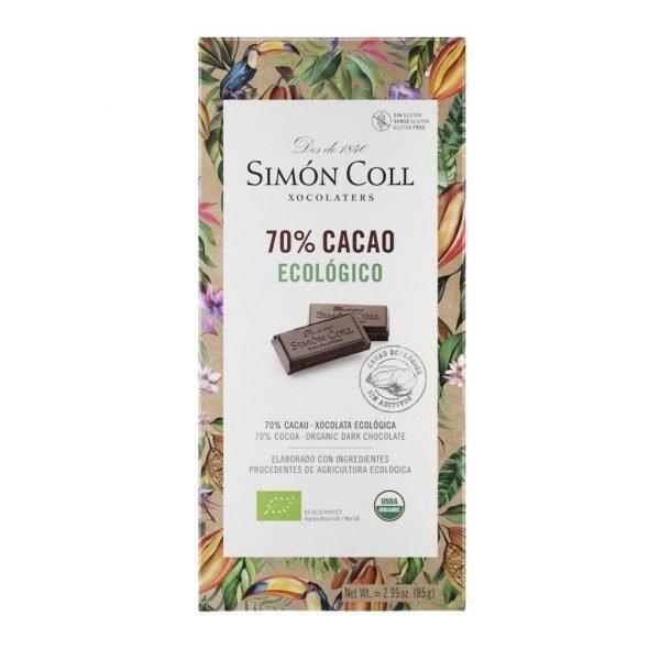 Chocolate 70 Cacao Simón Coll 85gr ECO