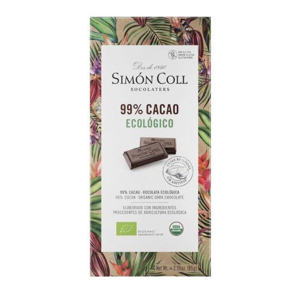 Chocolate 99 Cacao Simon Coll 85gr ECO 1