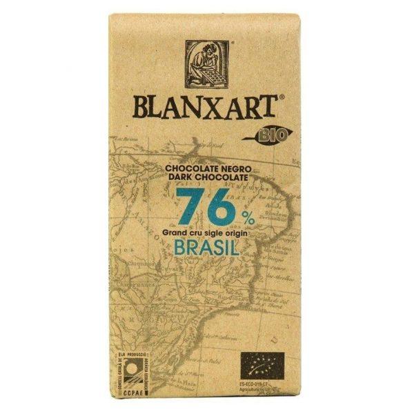 Xocolata Brazil Negra Blanxart 76 Brasil 125 gr.