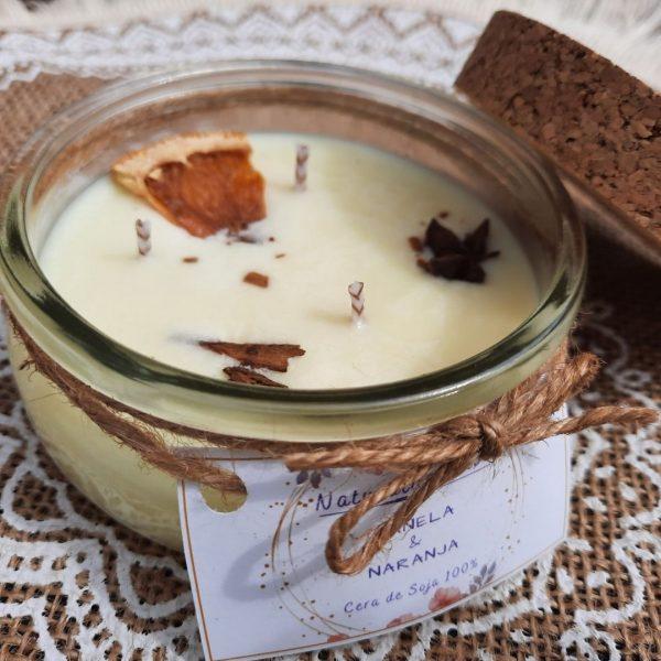 Espelma Cera de Soja Canela y Taronja ECO