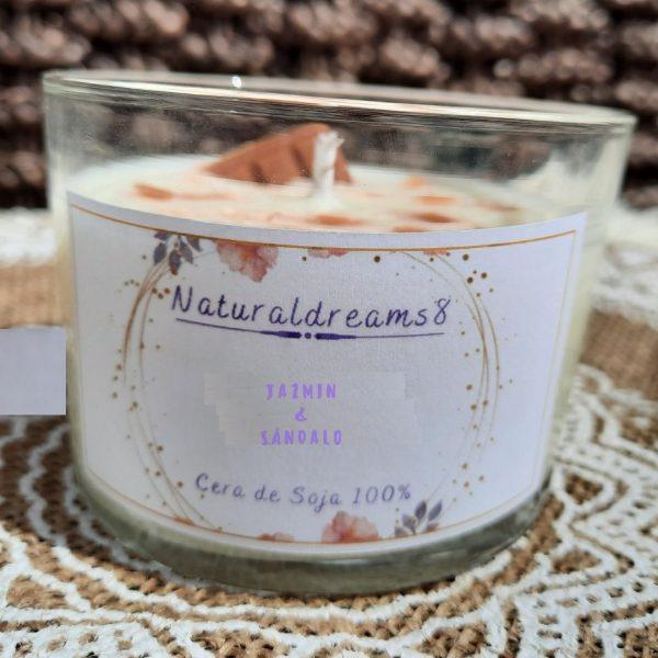 Espelma Cera de Soja Jazmin i Sandalos