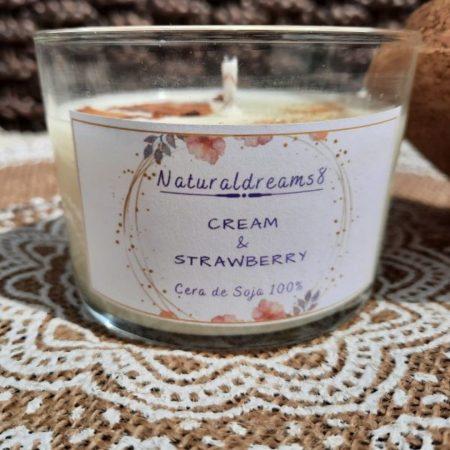 Espelma Cera de soja Cream i Strawberry ECO