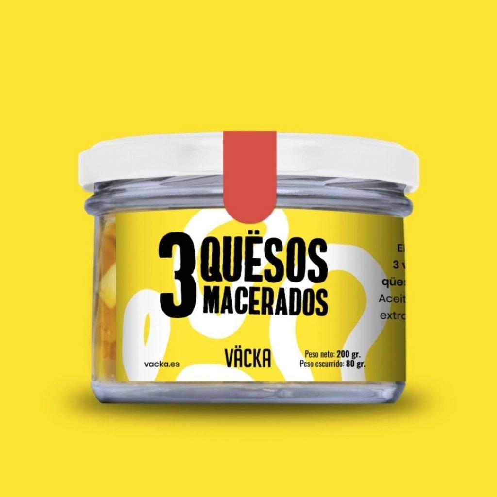 3 formatges macerats Vegà 225gr Vacka ECO