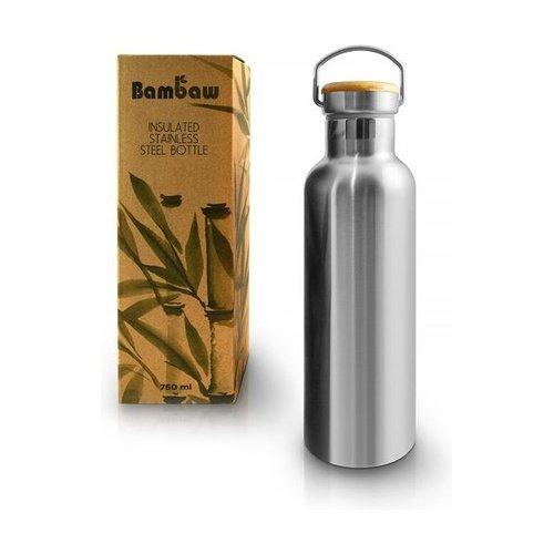 Ampolla Isotermica 750ml Inox Bambu Pandoo